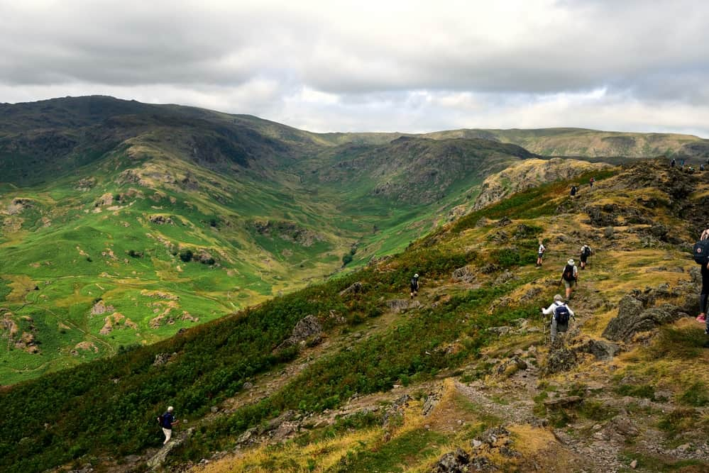 Line of walkers on Helm Crag