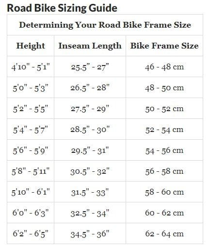 bike sizing