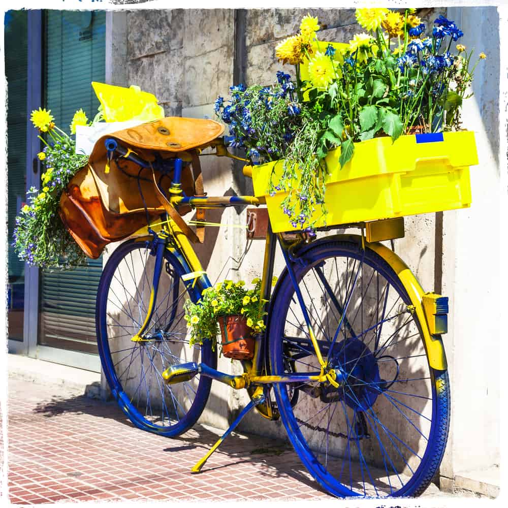Bicycle of postman -charming street decoration